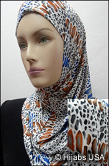 Multi-colored animal print 2pc Ameera Hijabs