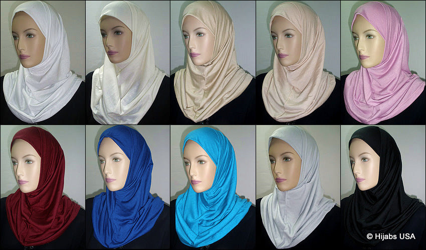 Solid Cotton 2pc Ameera Hijabs