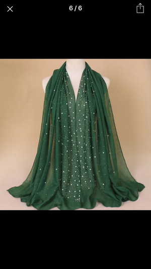 Pearl / Studded Cotton Shawls