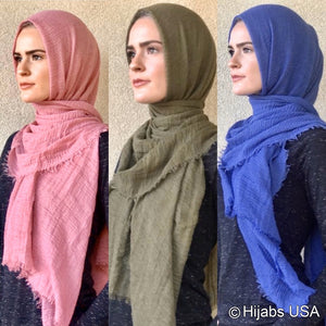 Premium Crinkle Collection Cotton Shawl/wrap