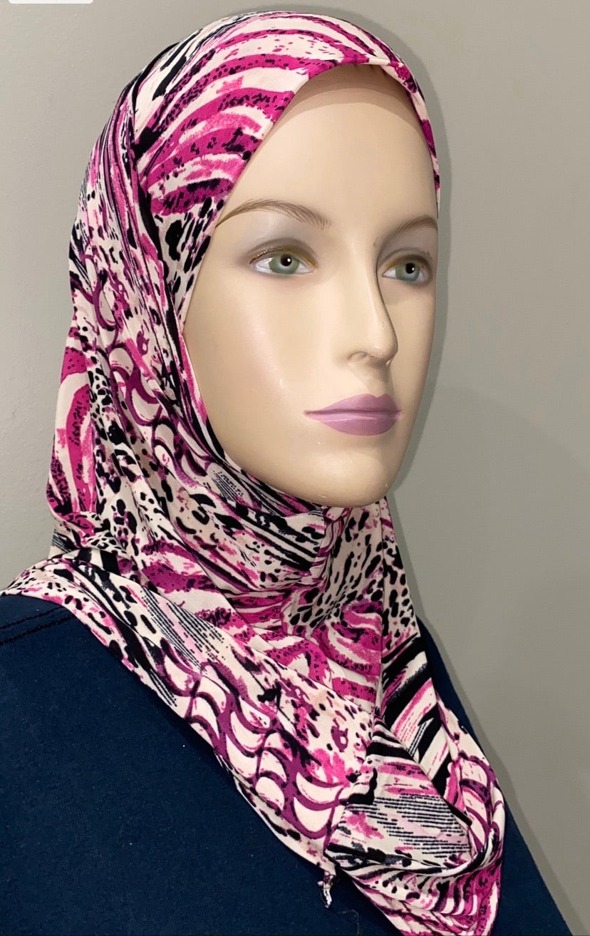 """Pretty In Pink"" 2 pc ameer hijabs"