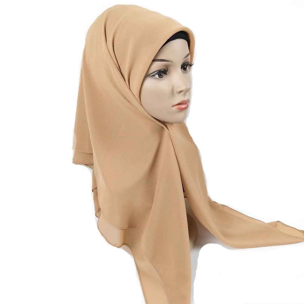 Solid Square Hijabs