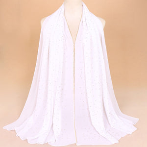 Solid Chiffon With stones