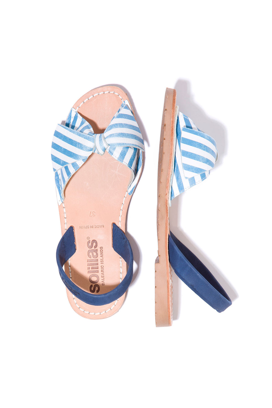Marina Lazo - Blue & White Stripe Bow