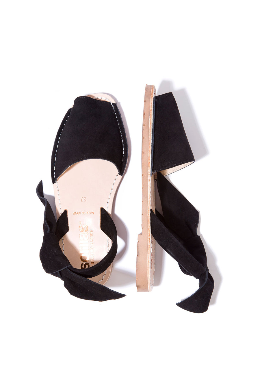 Isabel Noche - Black Suede with Bow