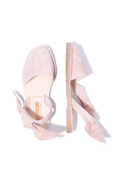 Isabel Rosa - Pink Suede with Bow