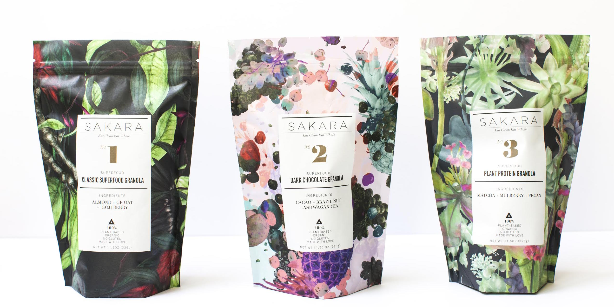 Sakara Life, the granola collection, superfoods, made with love