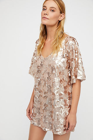Free People, Sequin T-Shirt Dress