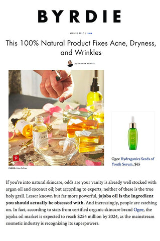 Byrdie: This 100% Natural Product Fixes Acne, Dryness, and Wrinkles.