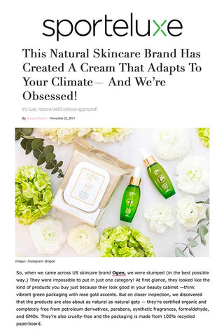 SportLuxe: Ogee Creates a Cream That Adapts to Your Climate -