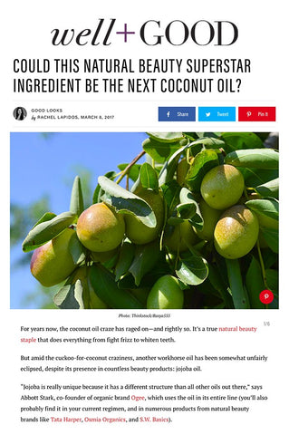 Well + Good: Could This Natural Beauty Superstar be the Next Coconut Oil? - Ogee's Organic Jojoba Oil