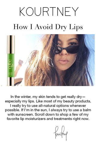 Kourtney Kardashian: How I Avoid Dry Lips - Ogee Organic Sculpted Lip Oil