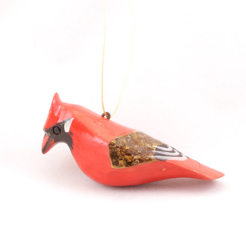 Wood Bird Ornament Collection