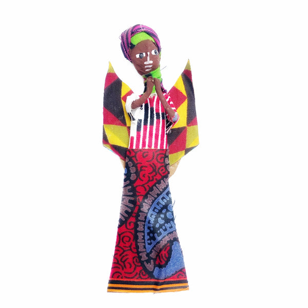 African Figurine Angel Ornament Praying Handmade
