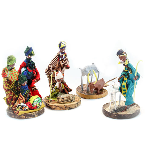 African Figurine Nativity Set Handmade Fair Trade