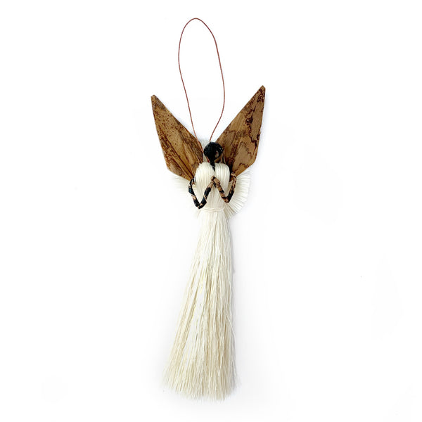African Angel with Praying Fair Trade Christmas Ornament