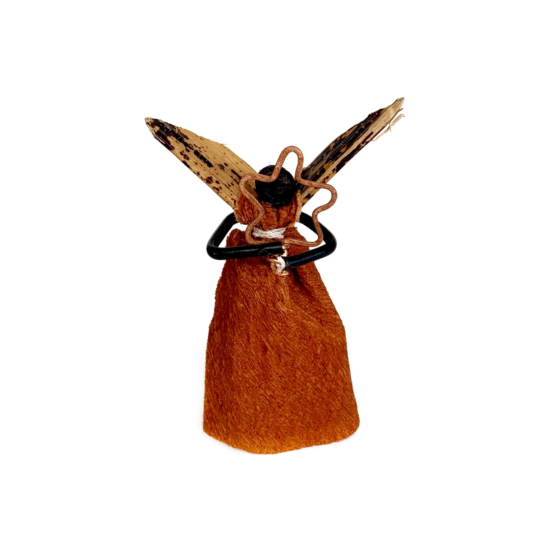 African Bark Cloth Angel Christmas Ornament