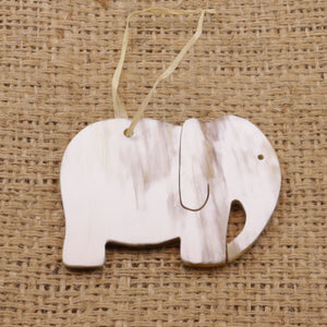 Cow Horn Ornament - Elephant