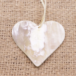 Cow Horn Heart Ornament Handmade Fair Trade