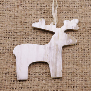 Cow Horn Deer Ornament Handmade Fair Trade