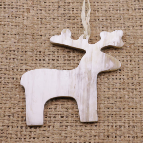 Cow Horn Ornament - Deer