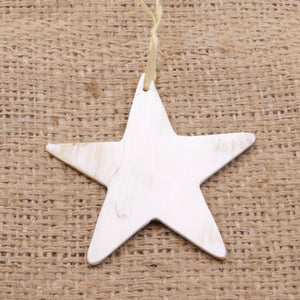 Cow Horn Star Ornament Handmade