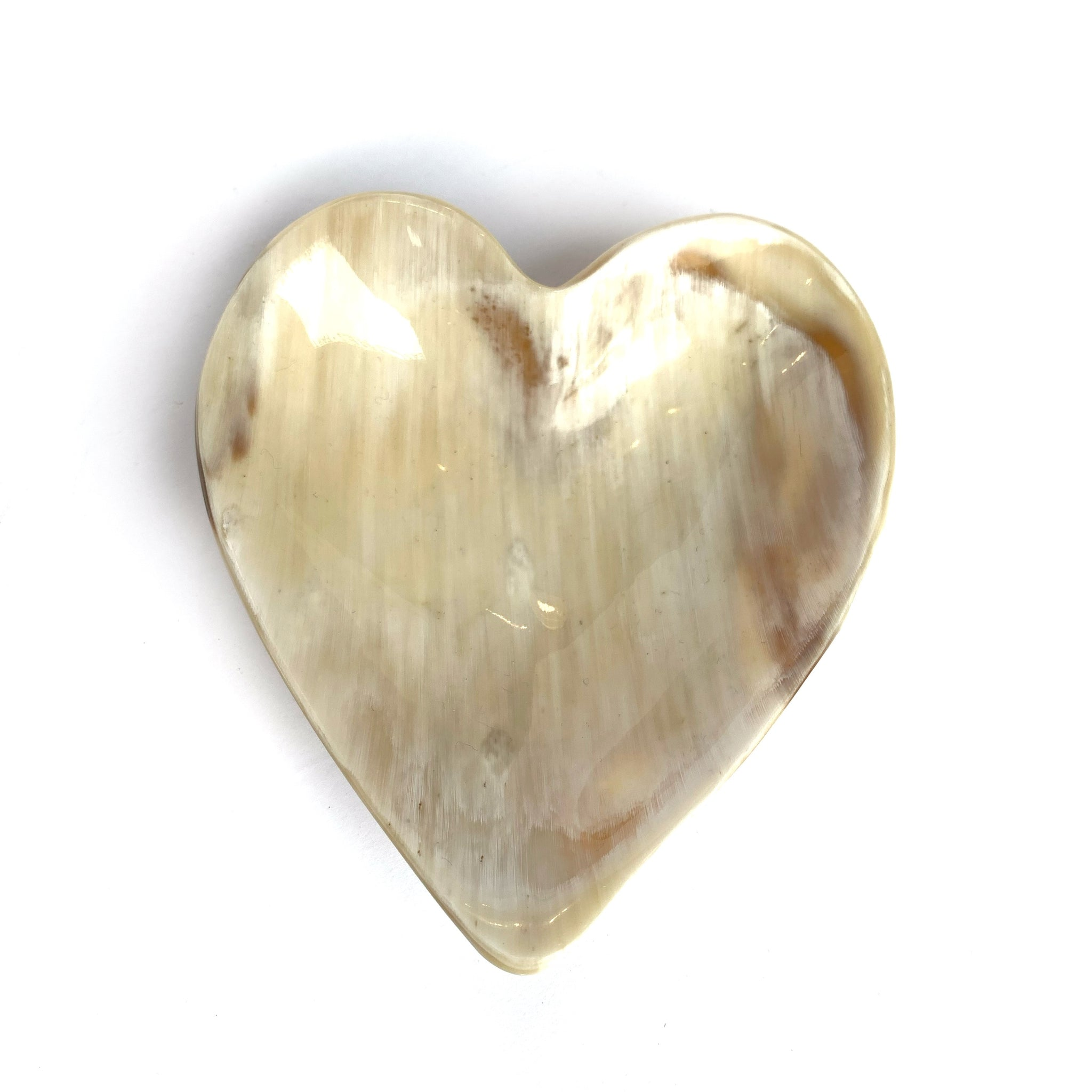 African Cow Horn Heart Dish Fair Trade