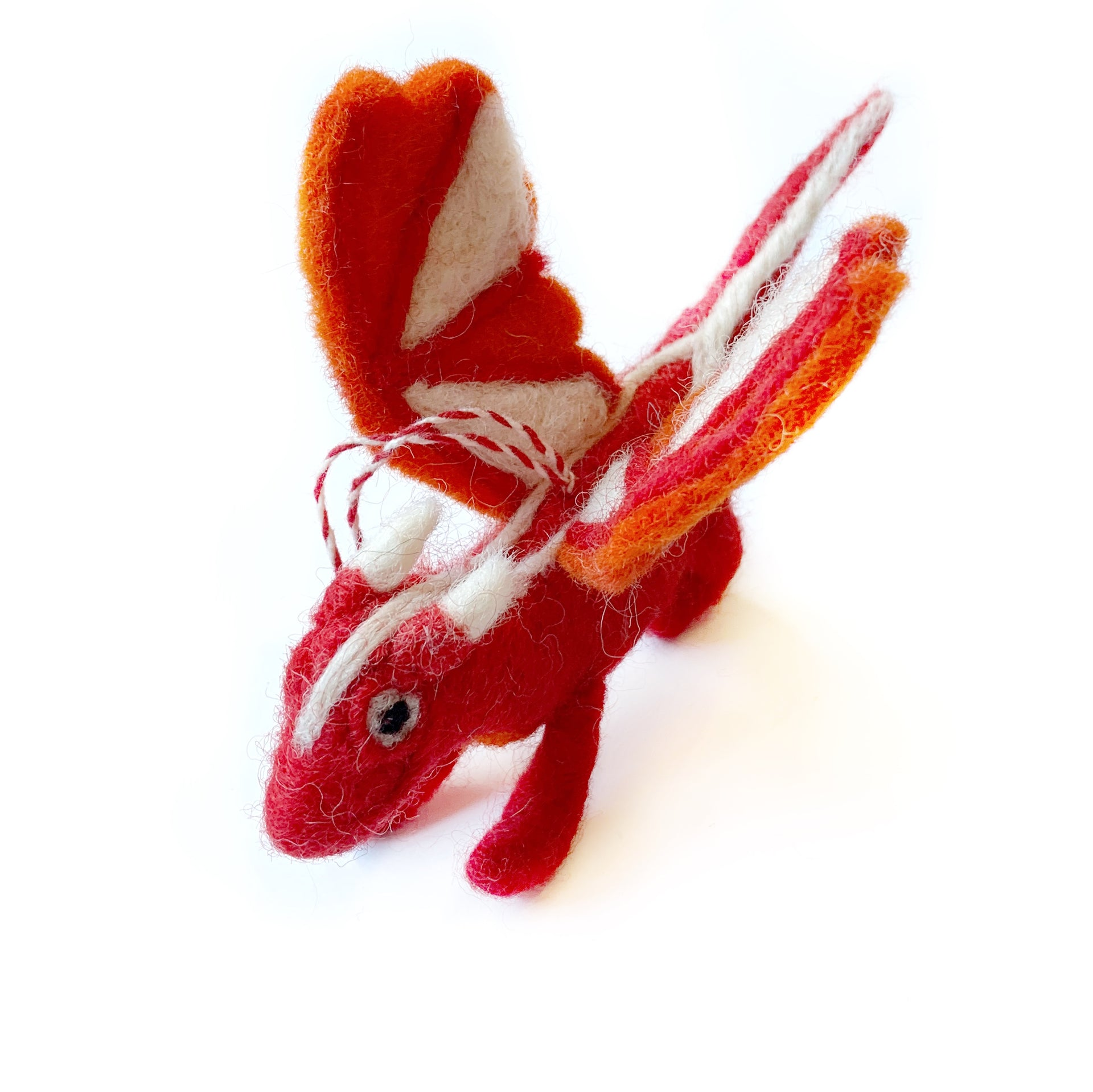 Felted Wool Dragon Christmas Ornament