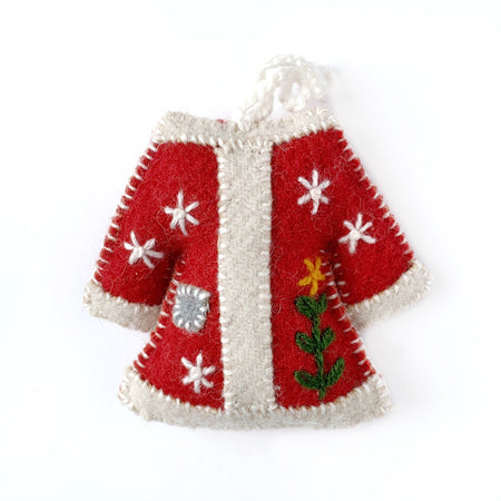 Wool Sweater Christmas Ornament Handmade