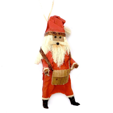 Africa Father Christmas Santa Ornament Handmade