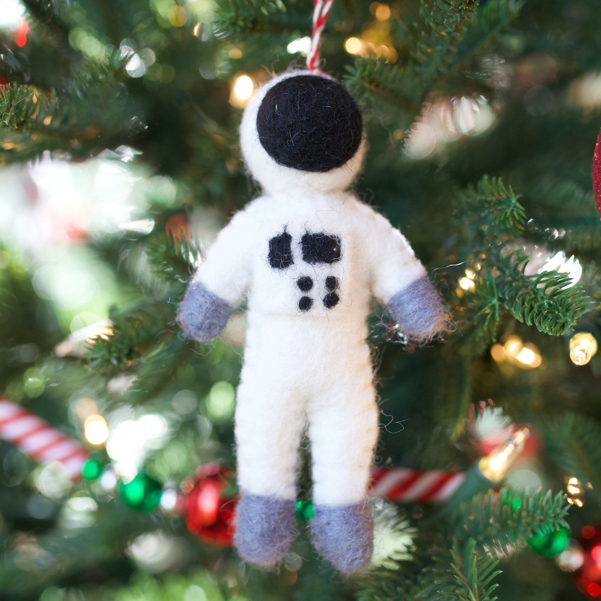 Astronaut Ornament, Felt Wool