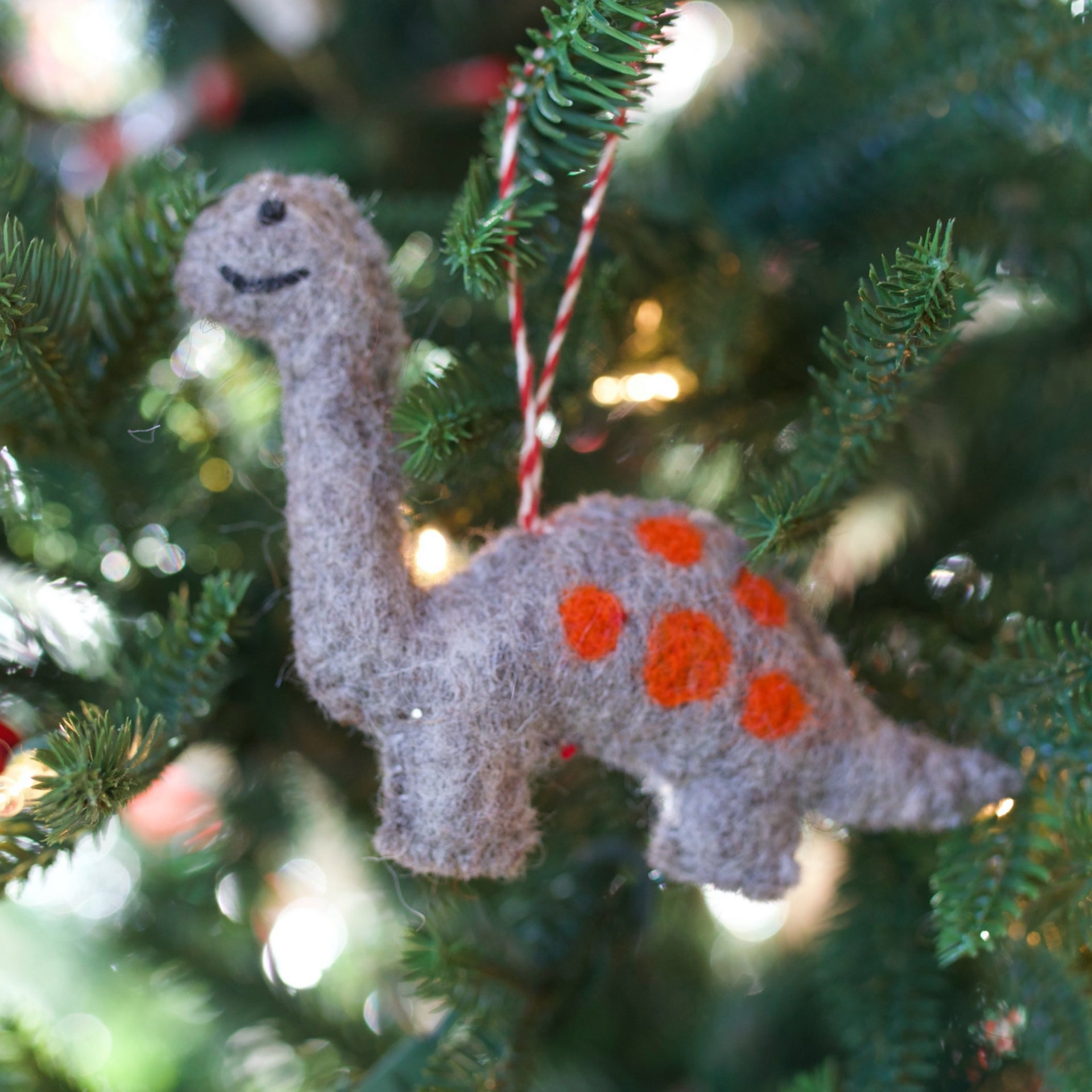 Dinosaur Ornament, Felt Wool
