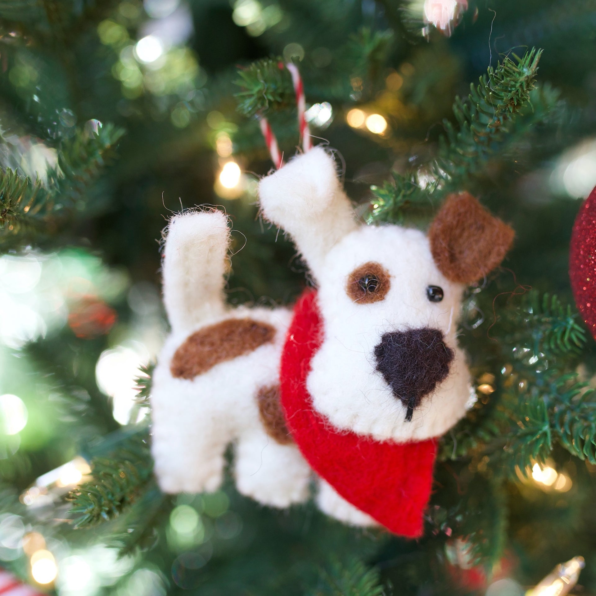 Dog Ornament, Felt Wool
