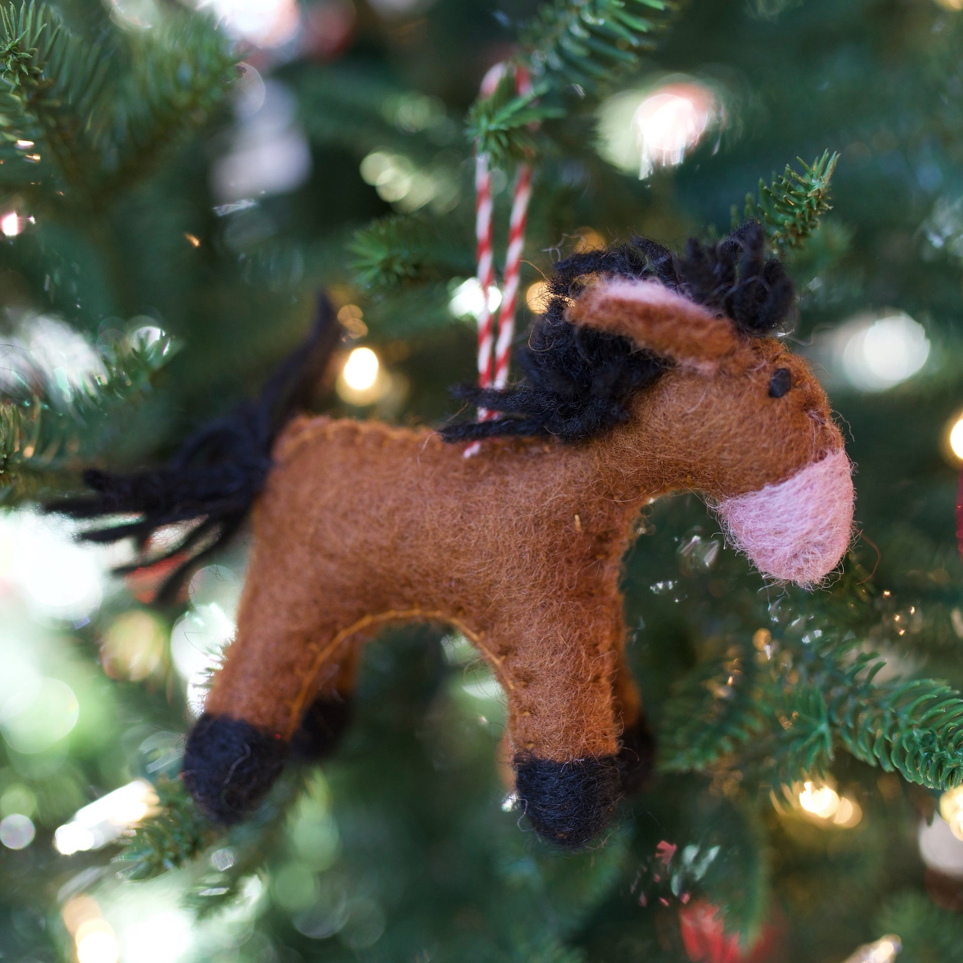 Horse Ornament, Felt Wool