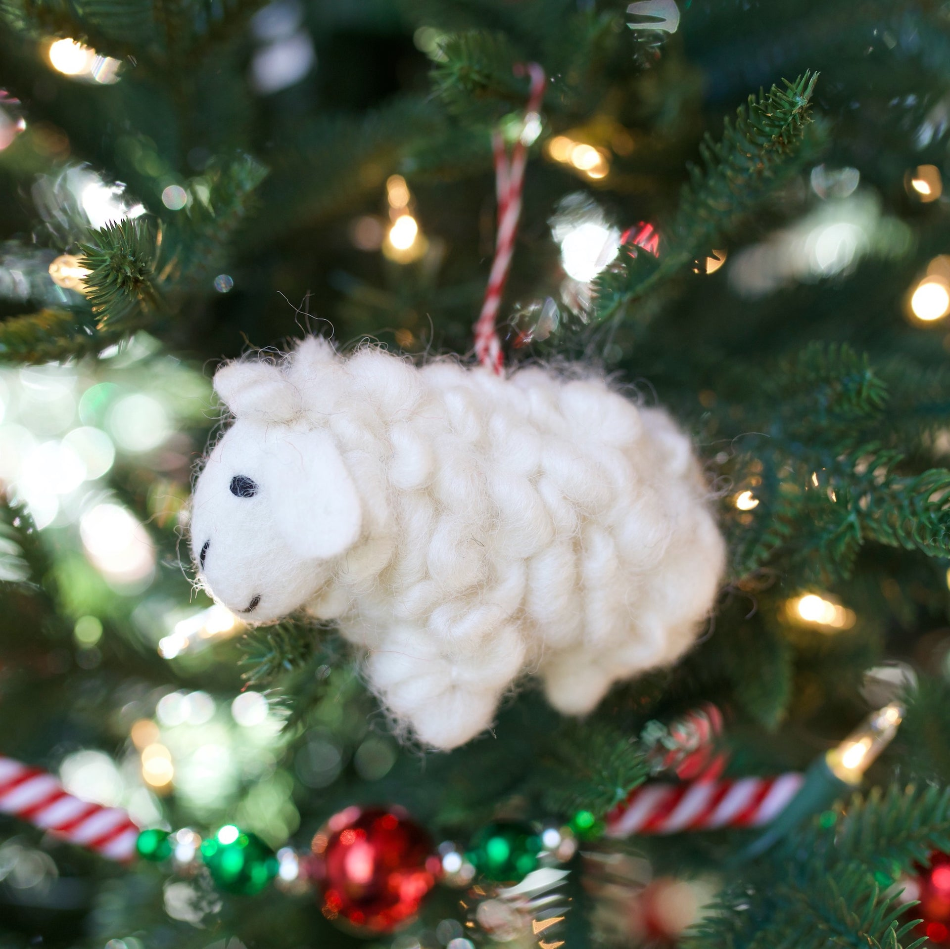 Sheep Ornament, Felt Wool