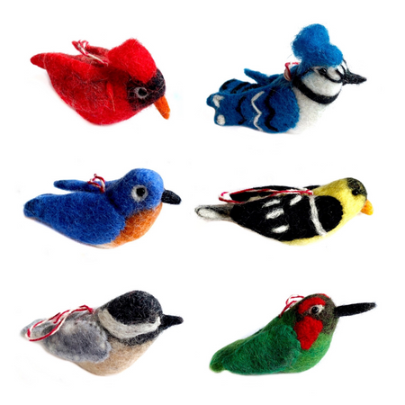 North American Birds, Felt Ornament Collection