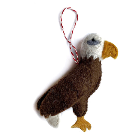 Bald Eagle Christmas Ornament Fair Trade Felt Wool