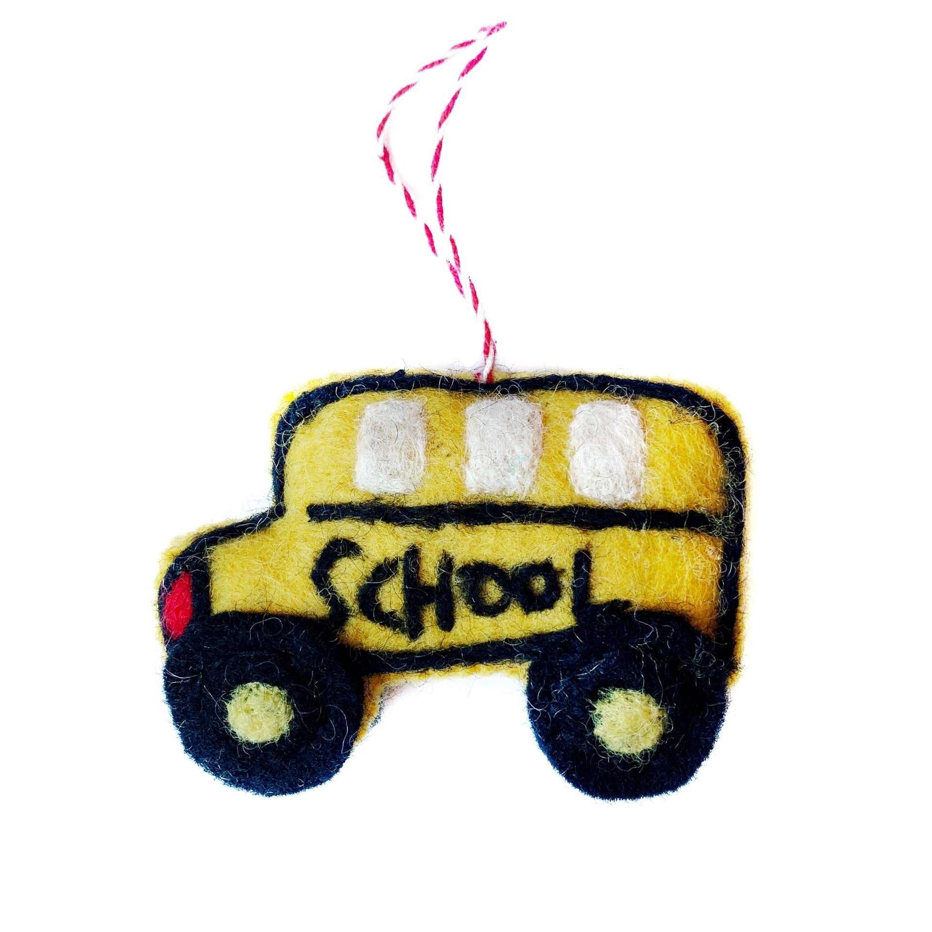 Yellow School Bus Christmas Ornament Handmade