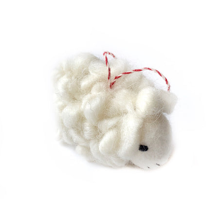 Wooly Sheep Christmas Ornament Fair Trade