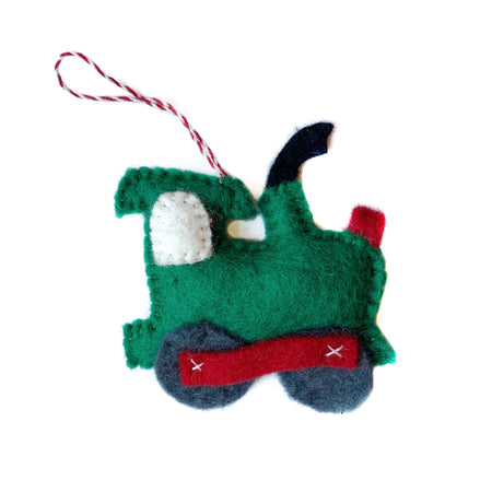 Train Christmas Ornament Felt Wool Handmade