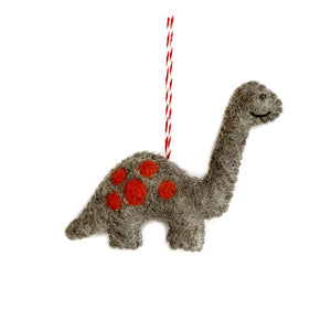 Dinosaur Ornament, Felted Wool