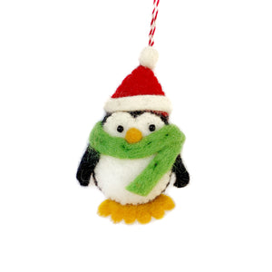 Fair trade penguin Christmas Ornament