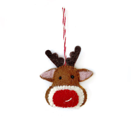 Red Nosed Reindeer Christmas Ornament
