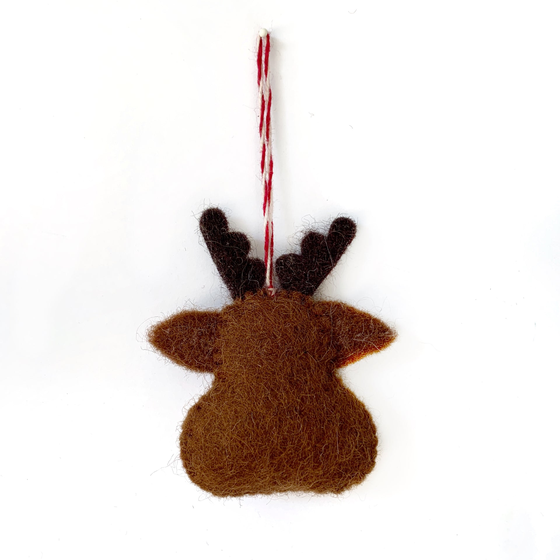 Red Nosed Reindeer Fair Trade Ornament from Nepal