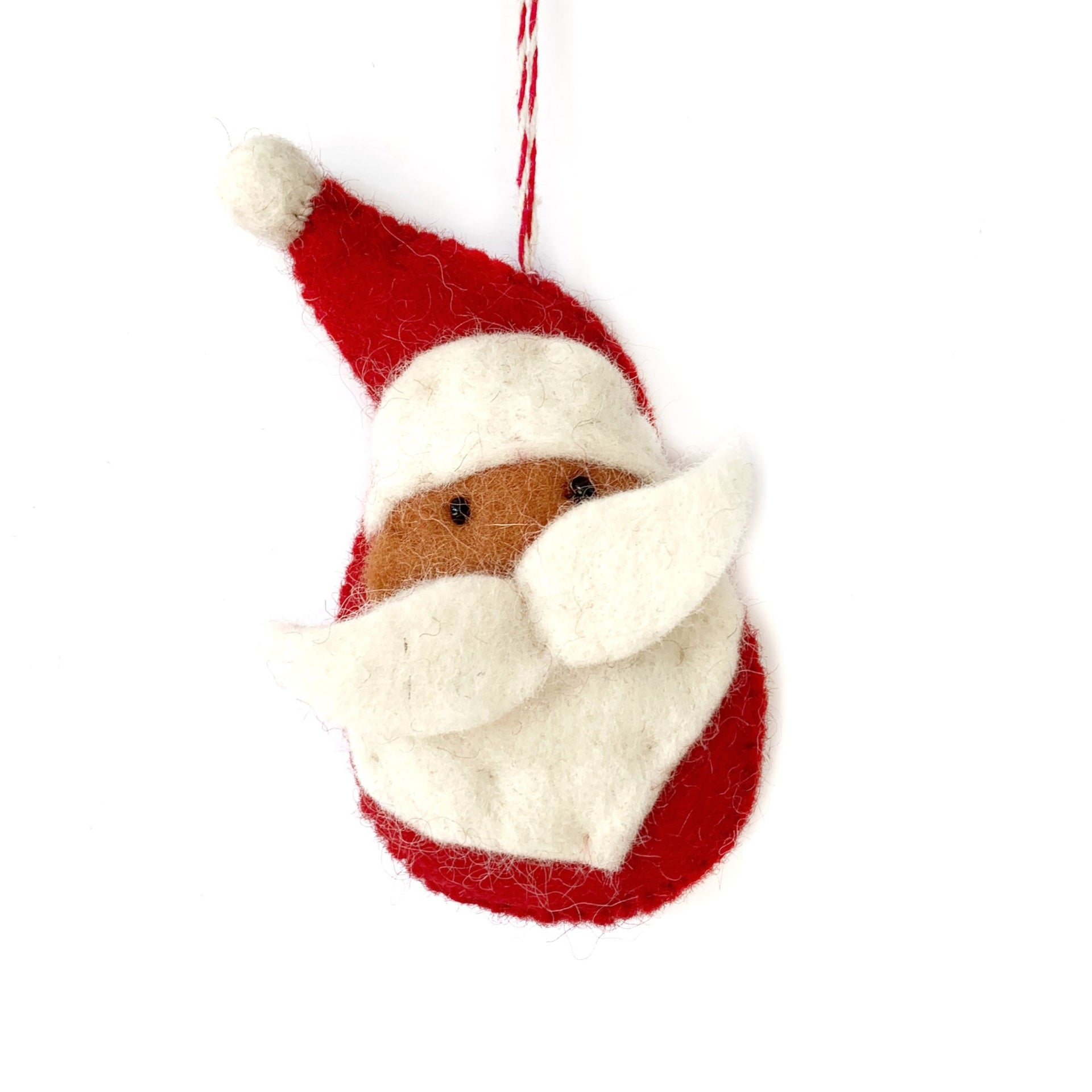 Felted Wool Santa Ornament Fair Trade