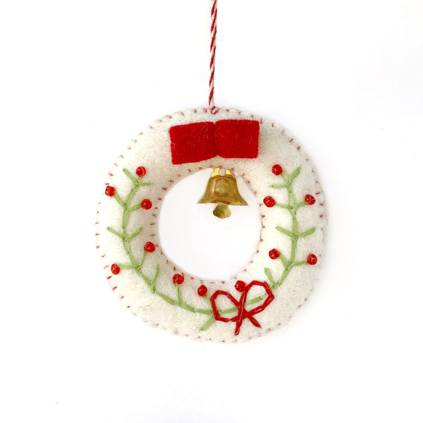 Fair Trade Christmas Wreath Ornament Nepal