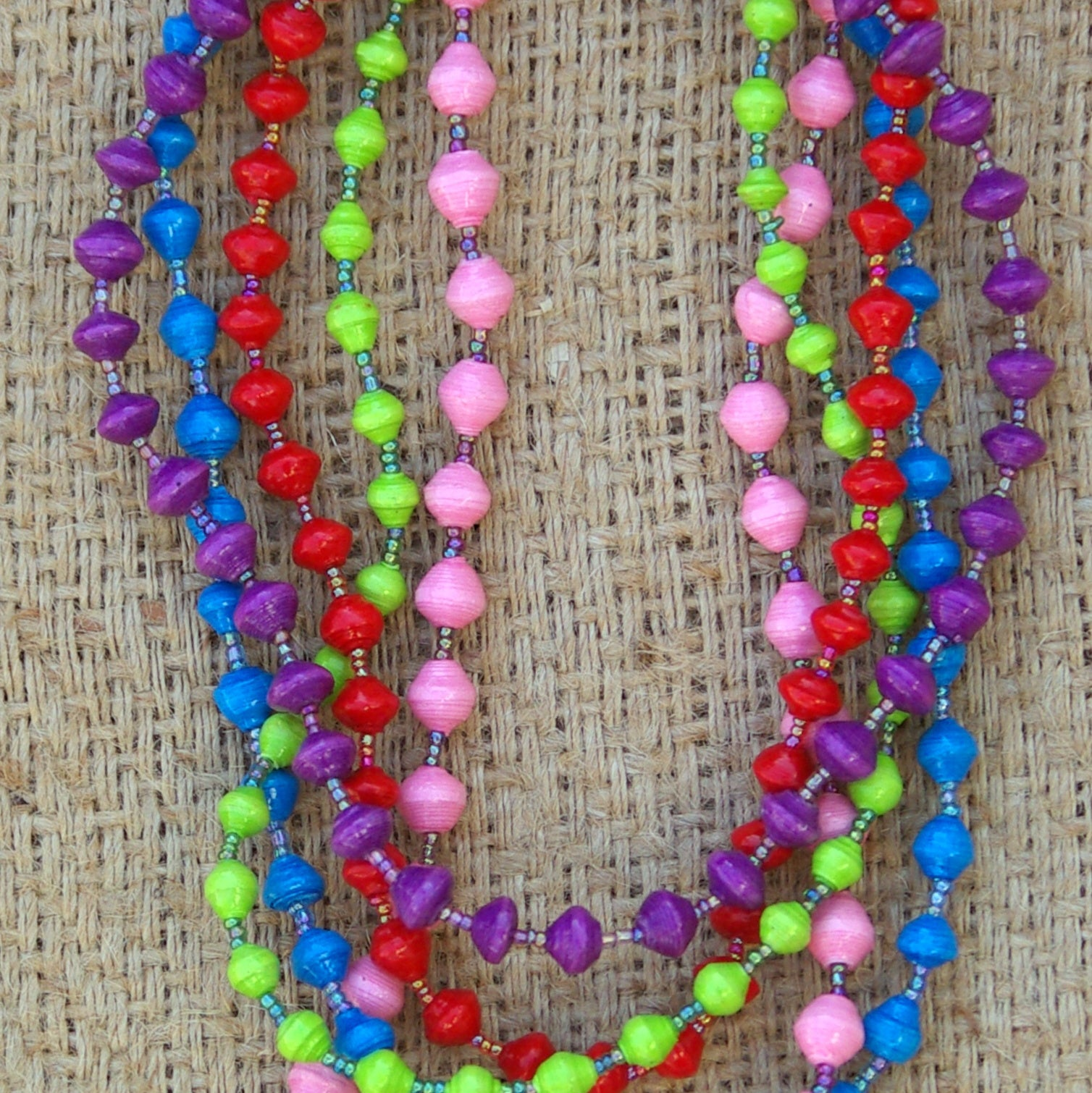 Paper Bead Necklace - Child