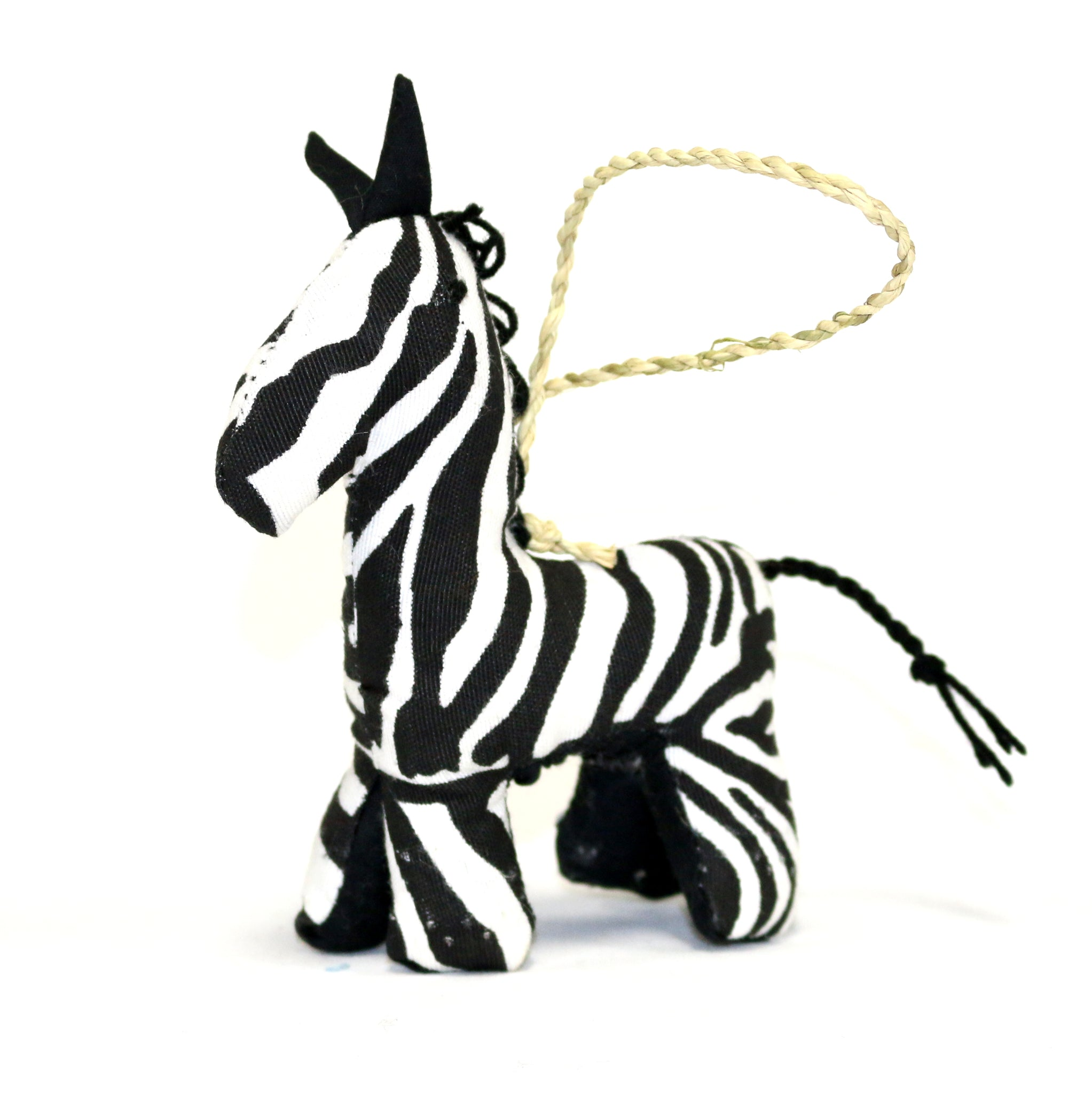 Stuffed Zebra Ornament