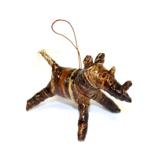 Banana Fiber Ornament - Rhino