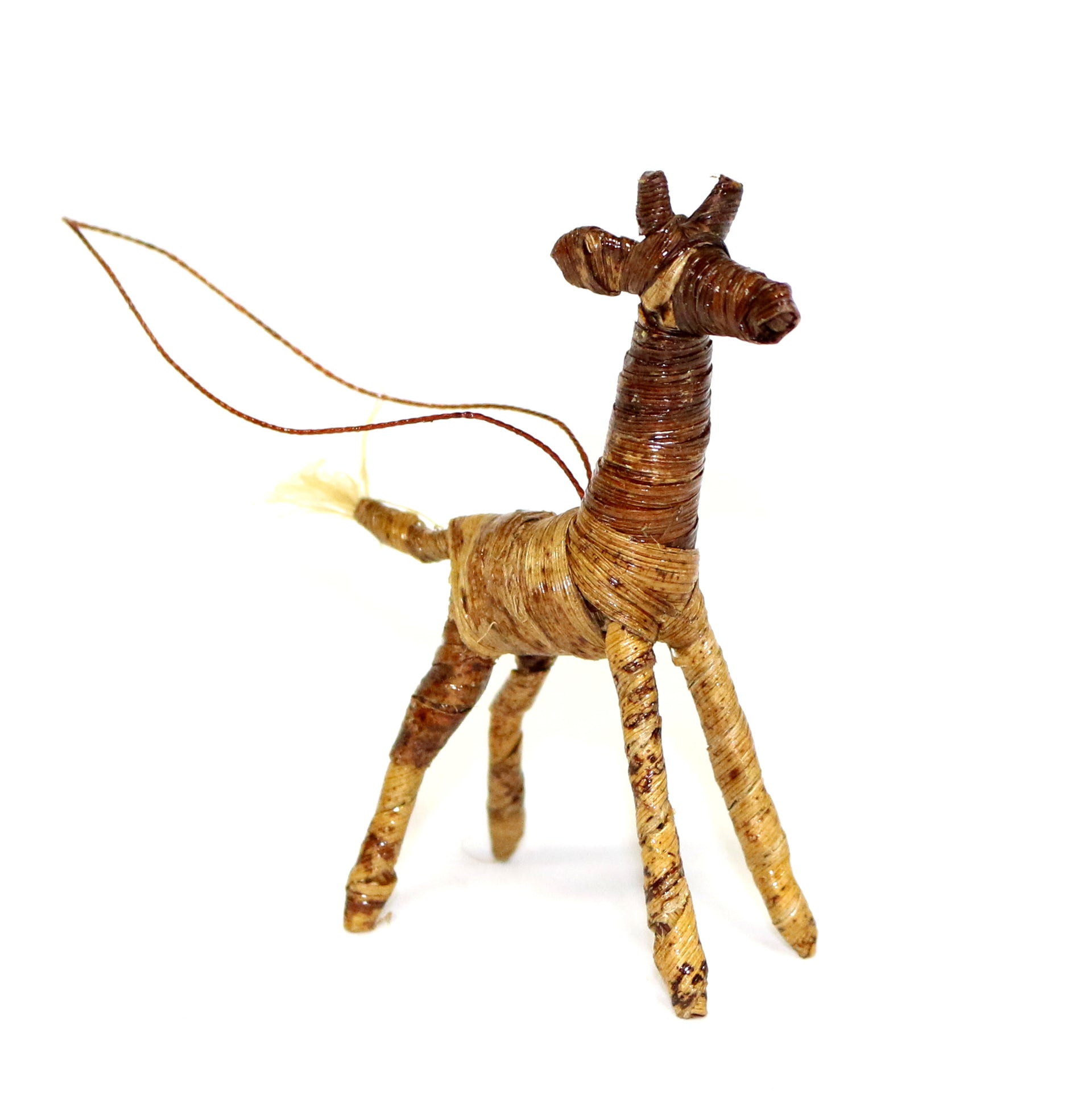 Banana Fiber Giraffe Ornament